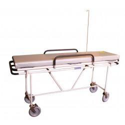 Тележка больничная с жестким ложем и съемным матрацом-носилками ТБ-023