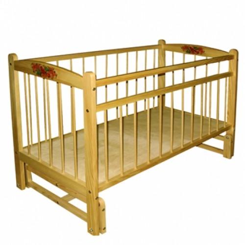 Кроватка для новорожденного  ДС-9245 из массива дерева
