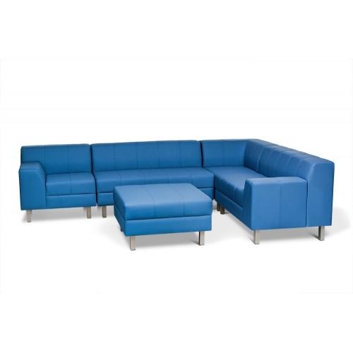 Модульный кожаный диван серия Флагман
