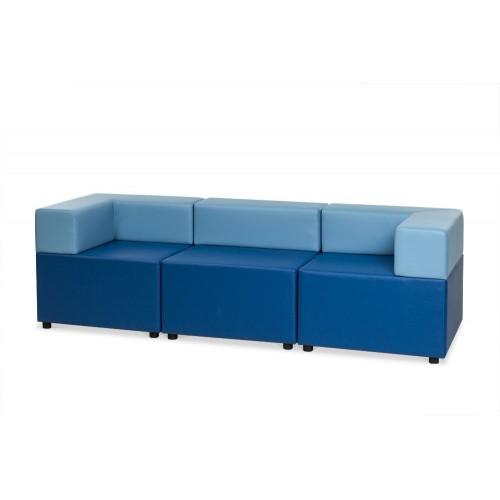 Модульный диван с мягкой спинкой CUBE-3