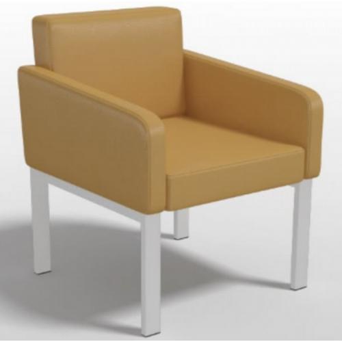 Кресло одноместное Клод-1 для приемной на металлокаркасе