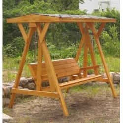 Качели садовые деревянные КЧД-01