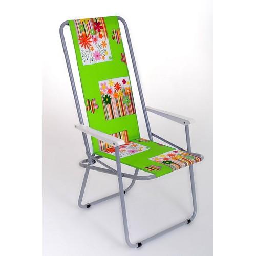 Кресло туристическое с высокой спинкой КС-03 складное