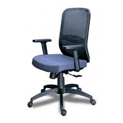 Кресло рабочее Тайм с поддержкой спины,крестовина пластик