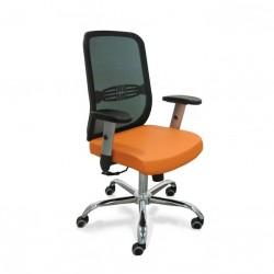 Кресло менеджера Тайм люкс спинка сетка,экокожа