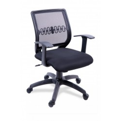 Кресло офисное бюджетое Пента спинка сетка