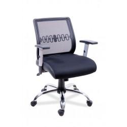 Кресло компьютерное Пента хром с регулируемыми подлокотниками