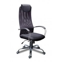 Кресло руководителя МГ-8 хром с высокой спинкой, мягкими подлокотниками