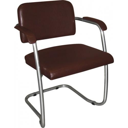 Кресло на полозьях для посетителя М36-04 с мягкими подлокотниками