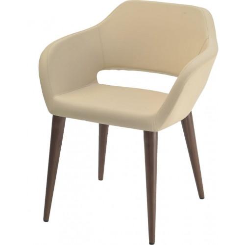 Кресло в переговорную Balun W на деревянных ножках