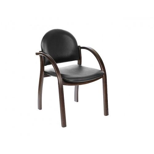 Кресло для посетителей Джуно на деревянном каркасе