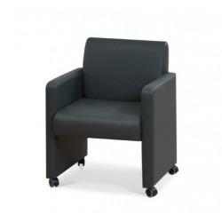 Кресло для ожидания Грей на роликах