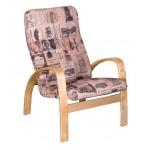 Кресло для камина Ладога в ретро стиле