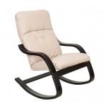 Кресло-качалка деревянное с кожаным сиденьем ЭЙР
