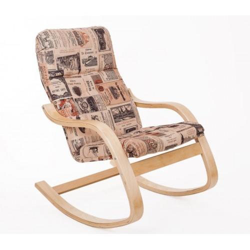 Кресло-качалка деревянное классическое ЭЙР обивка из ткани