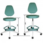 Кресло медицинское винтовое М106 с опорой для ног