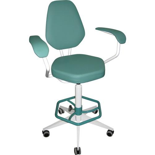 Кресло лабораторное винтовое М106 с подлокотниками и опорой для ног