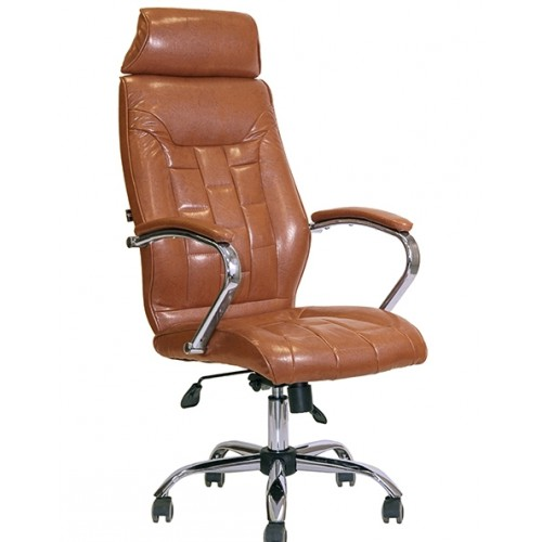 Кресло для кабинета директора AV-130 каркас хром