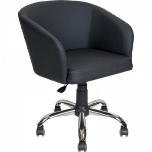 Кресло клиента  AV-223  в экокоже ,на хромированном каркасе