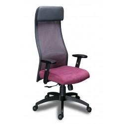 Кресло менеджера МГ-18  сетка+экокожа,регулируемый подлокотник