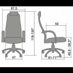 Кресло офисное бизнес-класса МТ-ВК-10 хромированное