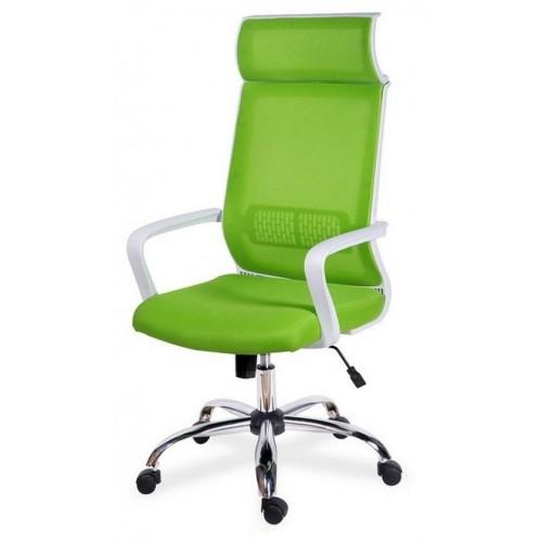 Кресло для персонала Оптима хром с подголовником