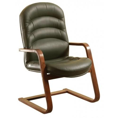 Кресло для посетителей ТРК-017 на деревянной конференц основе