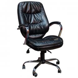 Кресло для современного руководителя F-Марго кожаное