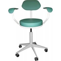 Кресло на винтовой опоре М106-01 с мягкими подлокотниками