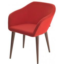 Дизайнерский стул Коко W на четырех деревянных ножках