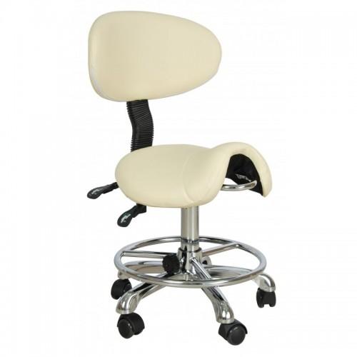Стул-седло со спинкой ММ-04 для массажиста