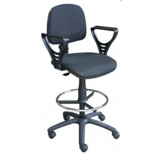 Кресло кассира STA-01 c опорным кольцом для ног