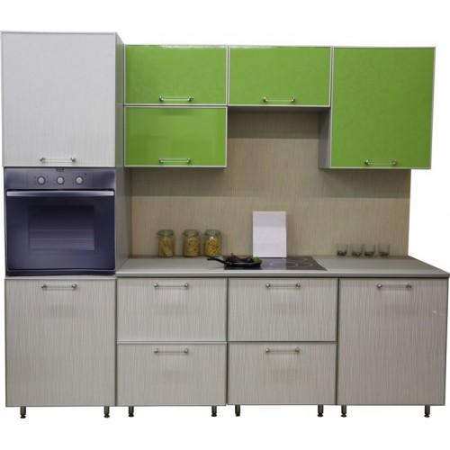 Готовая кухня Акриловый пластик Дождь белый и МДФ Лайм