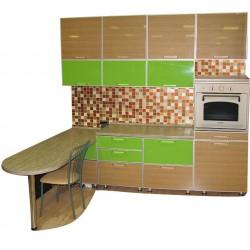 Готовая кухня Глянец Лайм Лак Дуб