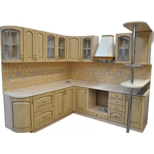 Готовая кухня Патина Беленый Дуб-7