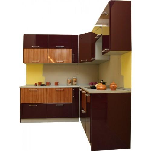 Готовая кухня Глянец Баклажан-Анегри
