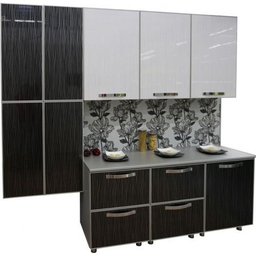 Готовая кухня Акриловый Пластик дождь черный  и белый