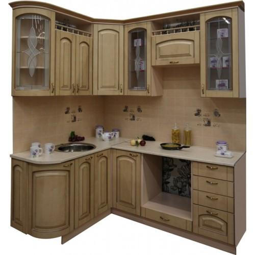 Готовая кухня Патина Беленый Дуб-8