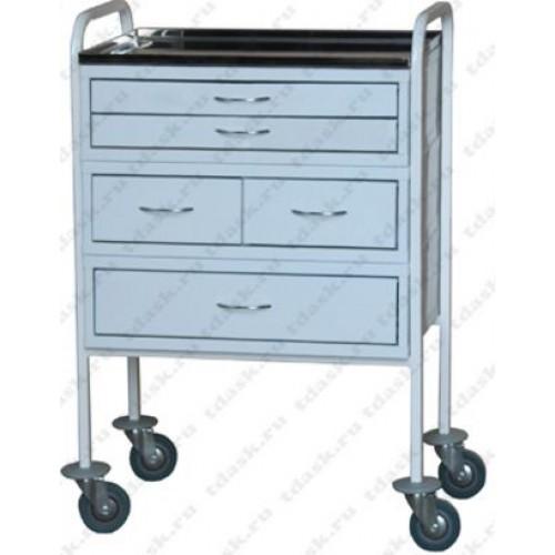 Столик для медицинских инструментов А138/11 с 5 ящиками