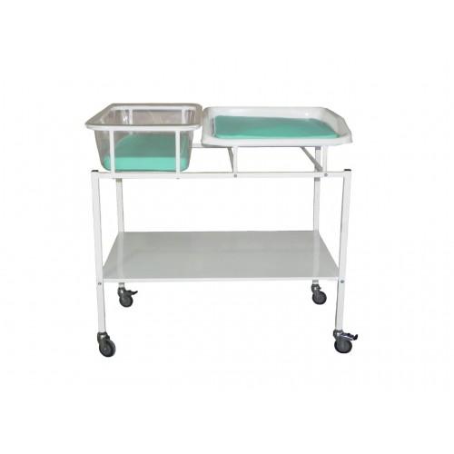 Кроватка для  новорожденного с пеленальным столиком 186