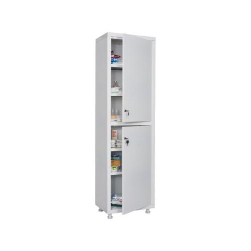 Шкаф металлический аптечный  МЕШ1-1650 одностворчатый