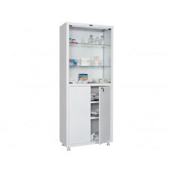 Шкаф медицинский металлический двухстворчатый МЕШ2-1780 со стеклом