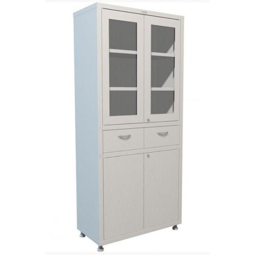 Медицинский шкаф двухдверный для медикаментов МЕШ2-1780Р2 с двумя ящиками