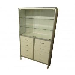 Шкаф лабораторный со стеклом М-ШЛ2/08 с ящиками