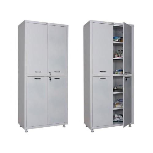 Шкаф медицинский металлический  МЕШ2-1780М дверки металл