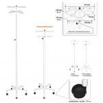 Штатив для капельницы Н192-05 на четыре сосуда телескопический