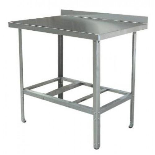Стол нержавейка AISI 430 производственный с бортиком ОП-СР-1200/600УБ