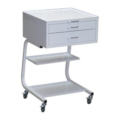 Столик  медицинский передвижной ОП-1-3 металлический с 3 ящиками