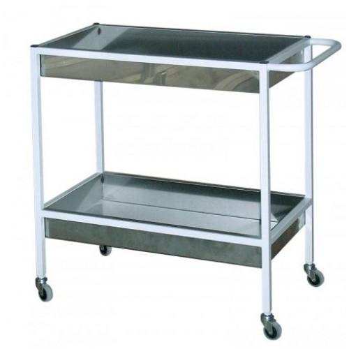Столик медицинский процедурный СП-01-2 К 2 лотка из нержавеющей стали