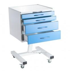 Столик стоматолога СИПС-М  подкатной с 4  ящиками